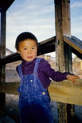 Jeune garçon Inuit du village d'Ittoqqottoormiit