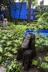 Garden of the property of Frida Kahlo in Mexico City Mexico
