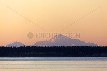 Mount McKinley seen from Anchorage Alaska