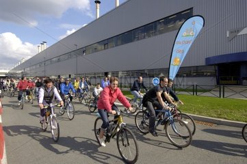 Day visits with bicycle of the factory Peugeot in Sochaux France