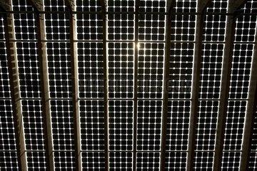 Solar panels on roof of Centre for Alternative Technologies