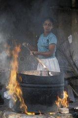 Woman making batiks in Sri Lanka