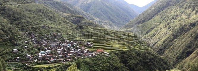 Province Ifugao rice fields between Batad and Sagada Philippines