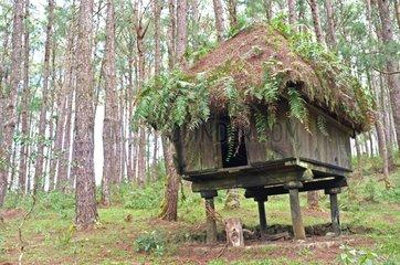 Traditional Ifugao hut village of Sagada Philippines