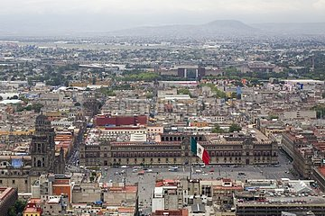 Town of Mexico City seen top of a building Mexico