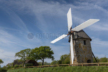 Cotentin windmill  Fierville-les-Mines  Manche  Normandy  France