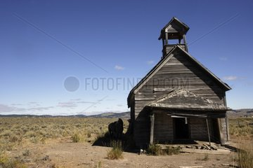 Old school out of wooden of 1900 insulated Oregon the USA