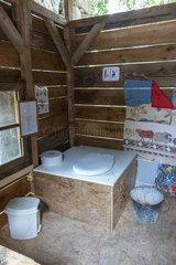 Dry toilets  Le Viel Audon  Ardèche  France