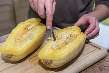 Spaghetti squash after cooking