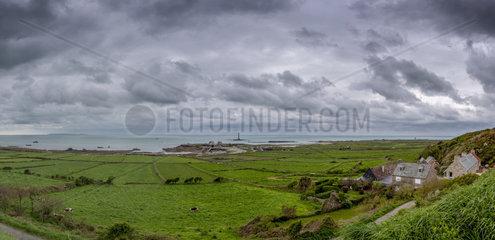Panoramic view of Goury harbor  Cap de La Hague  Auderville  Manche  Normandy  France
