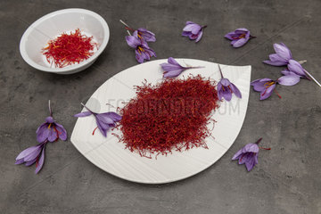 Saffron (Crocus sativus)  spice for cooking