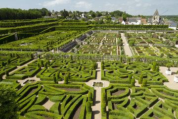Gardens of Villandry Castle  France