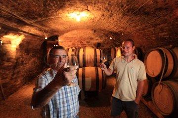 Wine tasting in a cellar Bourgogne France