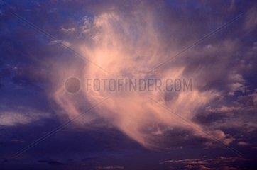 Reste d'un nuage d'orage France