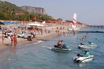 Plage touristique Kemer Turquie