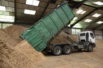 Manufacture of wood chips Faverois France