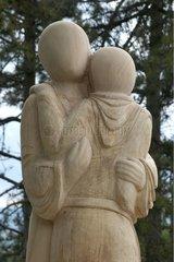 Wood sculpture Bourgogne France