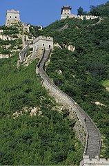 Great Wall of China at Badaling in north of Pekin China