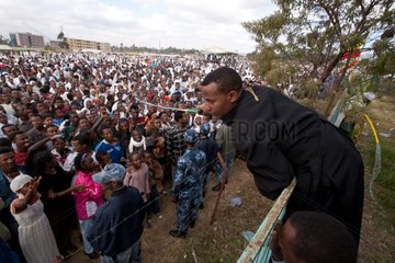 Ethiopian Christmas in Jalmada grounds in Addis Abeba