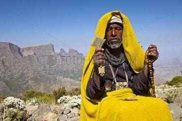 Orthodox monk - Chennek Simien Mountains Ethiopia