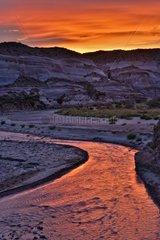 Dusk on the Paria River - Vermilion Cliff WA Arizona Utah