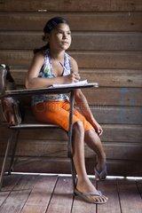 Schoolgirl in elementary school - Amapa Brazil