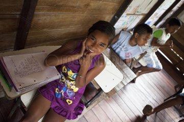 Schoolchildren in elementary school - Amapa Brazil
