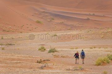 Tourists in the Namib Desert - Namibia