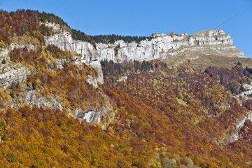 Cirque du Fer à Cheval in autumn - Sixt Passy Alpes France