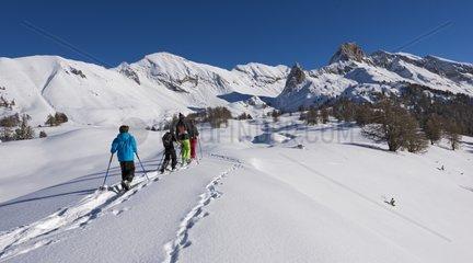 Snowshoeing - Vallon de la Selle Queyras Alps France