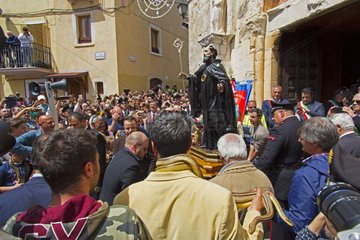 Statue of St. Dominic - Snakes Ceremony Cocullo Italy