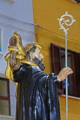 Snakes on St. Dominic Statue - Snakes Ceremony Cocullo Italy