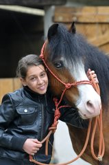 Girl and her Pony Welsh Cob - France