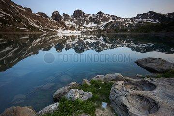 Reflection on Lake Allos - PN Mercantour Alpes France