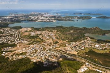 Aerial view of Dumbea - New Caledonia