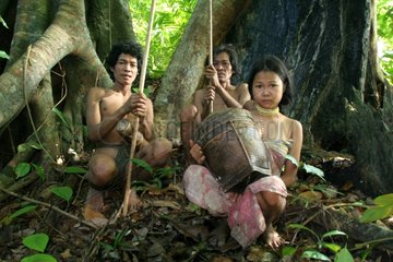 Hunters in the woods Tau't Batu Palawan Philippines