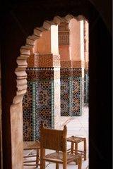 Ben Youssef Madrasah in Marrakech Morocco