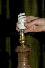 Energy saving spiral lamp adapted on a lampholder UK