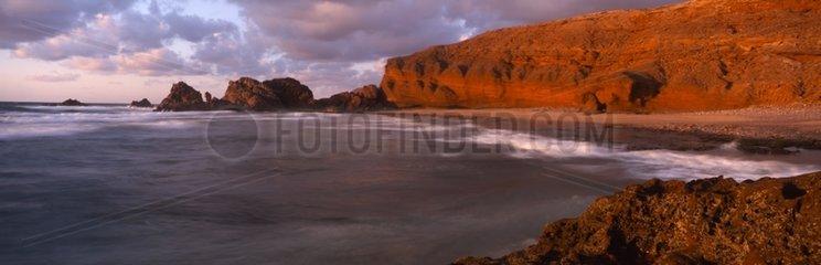 El Gsira Cliffs north of the town of Sidi Ifni Morocco