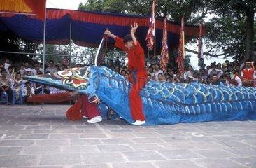 Festivities in honor of Snake Spirit Le Mâtt Hanoi Vietnam
