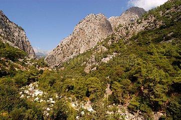 Montagne méditerranéenne au dessus de Kemer Turquie