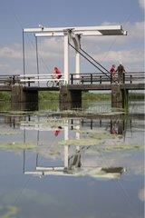 Bascule bridge over a canal Gorssel Netherlands