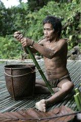 Preparation of bamboos Tau't Batu Palawan Philippines