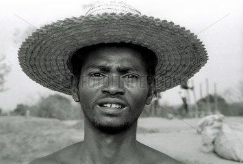 Portrait of a worker near Morondava Madagascar