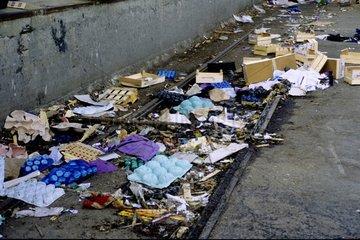Waste of the market to the ground Gare de Lyon Paris