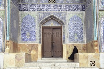 Woman at the entry of the mosque Sheikh Lotfollah Iran