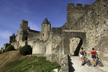 Carcassonne  the outer wall of the medieval city