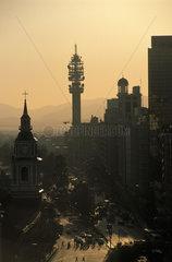 Santiago the radio tower and main avenida