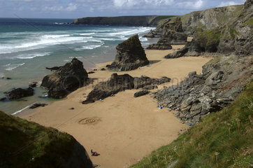 Cornwall  the Bedruthan Steps beach