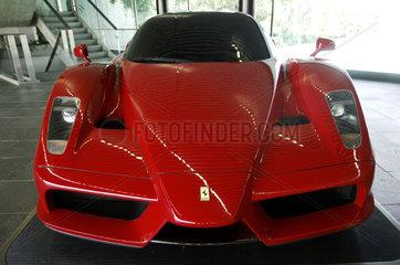 Turin  a Ferrari in the showroom of auto designer company Pinin Farina